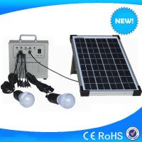 China 10w mini LED lighting solar system with 2pcs 3w led light on sale