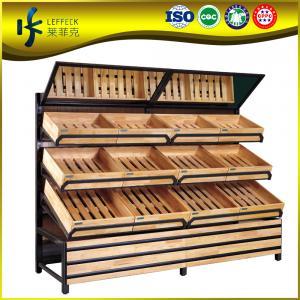 Best super markets wooden shelf/ supermarket wooden shelf/ supermarket vegetable and fruit display shelf wholesale