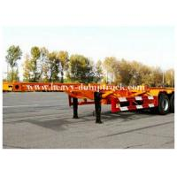 Quality 3 Axles 20 / 40foot flatbed trailer / skeletal trailer with 12 pcs container twist , flatbed truck trailers for sale