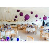 China Luxury Wedding Tents Aluminum Profile Lining Deco Different Desk and Table Options on sale