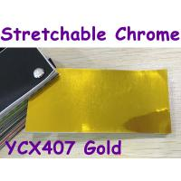 Quality Stretchable Chrome Mirror Car Wrapping Vinyl Film - Chrome Gold for sale
