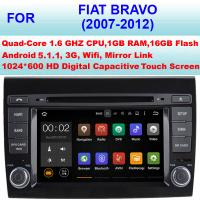 Quality 7 Inch Mirror Link Fiat Bravo Bluetooth Stereo 2007 - 2012 Built In DVR Function for sale