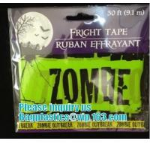 Quality Halloween Caution Tape , Custom Printing Caution Tape Halloween Banner,Halloween Caution Tape zebra tape bagease pack for sale