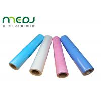 Paper And PE Medical Disposable Bed Sheets 49cmX50m Fabric Roll