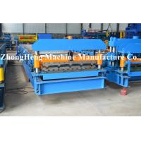 China 3 Phase Manual Glazed Tile Roll Forming Machine With Pillar Leading Pressing on sale