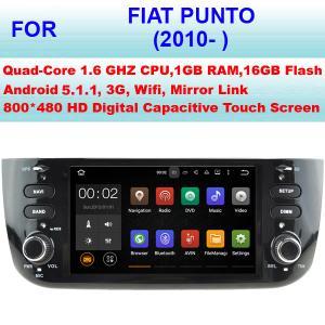 Quality DDR III 1GB RAM 16GB Flash Fiat Punto Car Stereo Radio GPS Navigation 2010+ NO DVD for sale