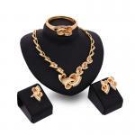 Quality Imitation gold filled jewelry set/women jewelry set/stylish fake gold jewelry set for sale