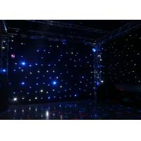 Wedding Decoration Led Star Curtain Lights , Led Star Cloth Backdrop DC12V/3A