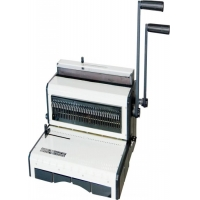 Quality Manual Desktop Double Loop Wire And Plastic Comb Punching Binding Machine for sale