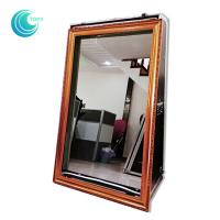 Quality Touch screen mirror touch screen booth 55inch magic mirror selfie booth case for sale