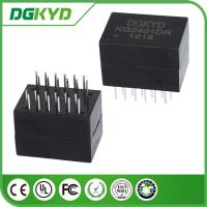 Quality KG2401DR Dip 100/1000 Cat6 Gigabyte Ethernet Transformer Modules , 24 Pins for sale