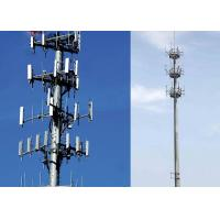 Quality Q235B / Q345B 45m Monopole Antenna Tower Heavy With 4.8S / 6.8S / 8.8S Bolt for sale