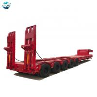 Quality LUYI 5 lines 10 axles  lowbed lowboy semi trailer for large equipment for sale