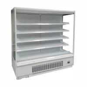 6FT White Color Open Display Fridge for Supermarket with LED Lighting for Each Shelf