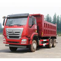Quality Red Sinotruk Howo 6x4 Dump Truck 310HP Euro 4 21 - 30 Ton Engine Capacity 8L for sale