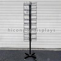 Best 8 Tiered 96 Prongs 65 Long Rotating Display Rack Black Color With Hanging Hook wholesale
