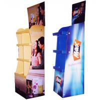 Quality Custom Advertising Corrugated Cardboard Display with Shelves for sale