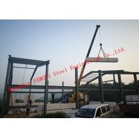 China Prefabricated Q345B Column Industrial Metal Buildings With FASEC Prefab - I Panel Cladding For Warehouse on sale