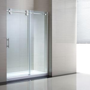Quality Tempered Sliding Glass Door Shower Enclosure Replacement , 48 Shower Door for sale