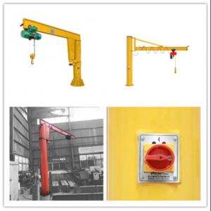 Quality Workshop 360 Degree Rotating 3T Yellow Slewing Jib Crane for sale