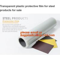China Custom self adhesive plastic protective film for floor/Profilm/glass,pe film watch strap protection custom printing on sale