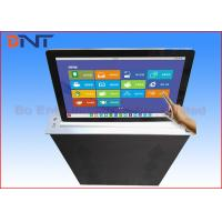 Conference Room LCD Motorized Monitor Lift With 17.3 Inch Touch Screen