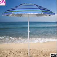 China Steel Frame Outdoor Parasol Umbrella UV Protection For Sandy Beach Sunshade on sale