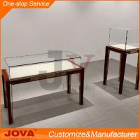 China Custom made used jewelry display cases, modern wooden mirror jewelry display cabinet on sale