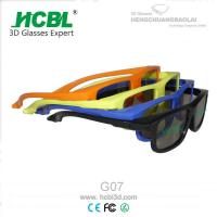 Linear Polarized Blue 3D Glasses / Eyeglasses Without Nose Pads With ABS Frame