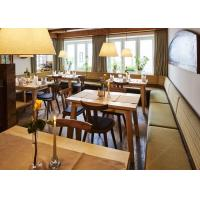 Unique Restaurant Furniture Sets With Wooden Table / Fabric Sofa Chair