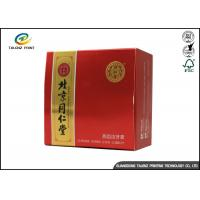 Quality Custom Popular Folding Colorful Toothpaste Box , Red Color Paper Box Packaging for sale