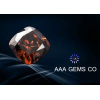 Synthetic Brown Moissanite Cushion Eight Arrows , Eight Hearts Cutting