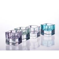 China Square Tealight Candle Holder Glass Replacement For Decoration on sale