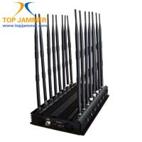 Buy cheap 16 Bands 38W High Power Jammer Blocker 3G 4G UHF VHF Lojack Wi-Fi 2.4G 3.6G 5.8G from wholesalers
