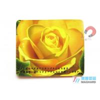 Quality Custom Made Flat Personalized Fridge Magnets For Fridge Magnets Yellow Flower Print for sale