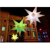 China Customized Star Inflatable Stage Decoration LED Christmas Lights on sale