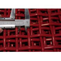 Quality Red Woven High Carbon Wire Mesh Firm Structure Long Service Life For Mining / Coal for sale