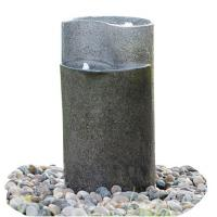 Best Cylinder Shaped Cast Stone Garden Fountains / Large Outdoor Fountains  wholesale
