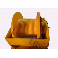 Quality Hydraulic Brake Hoist Winch 140KN With Lebus Grooving For Offshore Ship / Construction Lifting for sale