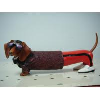 Quality  Cool Glasses Dachshund Polyester Epoxy Resin Crafts for decorative garden fencing for sale
