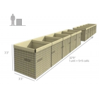 Buy cheap Rapid Deployed Welded Mesh 3mm Hesco Containers from wholesalers