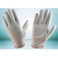 Quality Red Stitches Line Lint Free Gloves Large Size With Common Binding ZS15-008 for sale