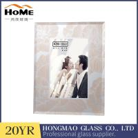 Quality Durable Champagne Glitter Glass Photo Frame As Gifts Items High Hardness for sale