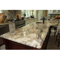 Quality Yellow River / Golden River Granite Vanity Countertops For Traditional Bathroom for sale