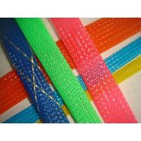 Quality Flexible PET braided woven expandable cable protection Mesh Sleeves for newspaper protective sleeves for sale