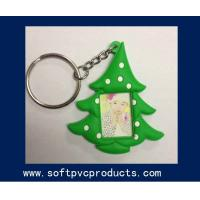Quality Tree Shape Personalised Soft PVC Photo Frame , Plastic Keychain Picture Frame for sale