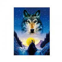 Quality Animal 3D Lenticular Pictures For Office Decoration / 3D Wolf Picture for sale