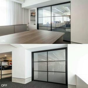 Quality switchable glass bathroom window eb glass for sale
