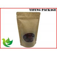 Best Laminated Material Kraft Paper Pouch With A Clear Window wholesale