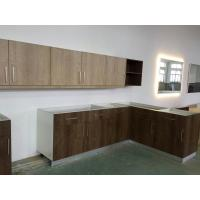 Buy cheap Wood grain MFC kitchen cabinet,Modern kitchen furniture,Kitchen design,L-shape cupboard from wholesalers
